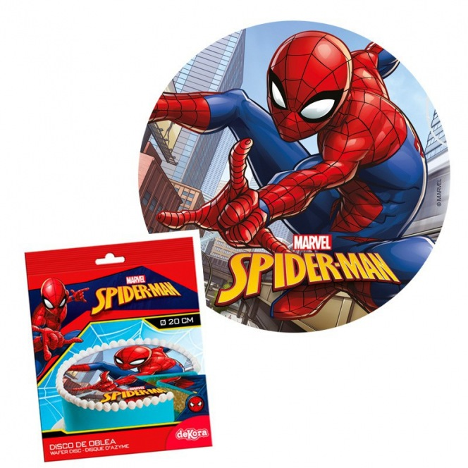 Wafer disc spiderman Ø20cm Dekora