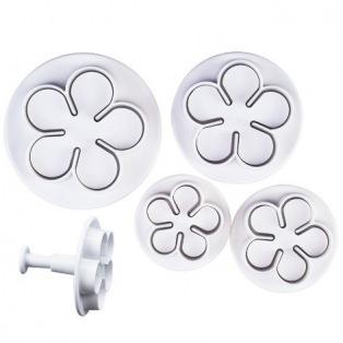 4 emportes-pièces fleurs - Stäeder
