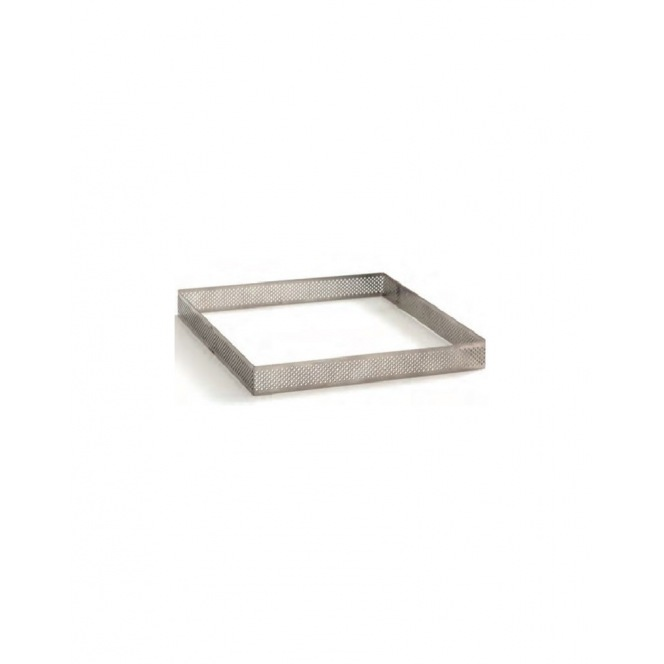 Square Tart Ring  With Perforated edged 15 cm - Decora
