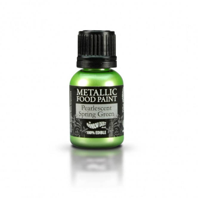 RD Metallic Food Paint Spring Green 25ml