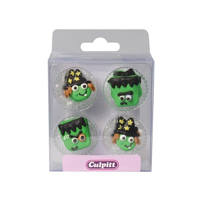 Monster Friend Sugar Decorations - 12pc- Culpitt