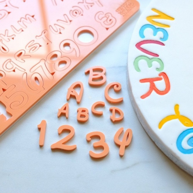 Sweet Stamp by Amy Cakes - Embossing Set - Letters & Numbers - Magical