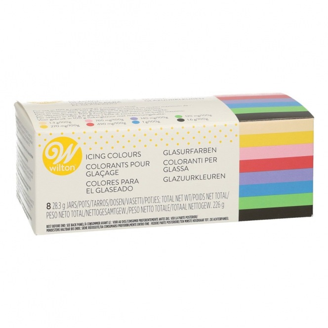 8 icing colors kit - Wilton - 8 x 28gr