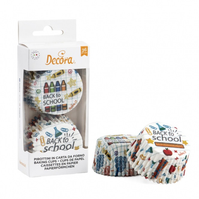 Baking Cups - Back to School - 36pcs - Decora