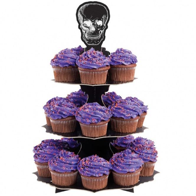 Halloween Skull Cupcake Stand - Wilton