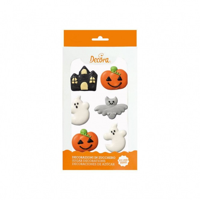 Sugar Decorations - Halloween Fantasy - 6pcs - Decora
