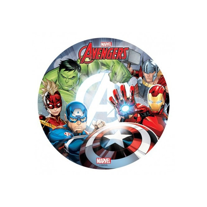 Wafer disc Avengers - Captain America, Hulk & Iron Man - 20cm