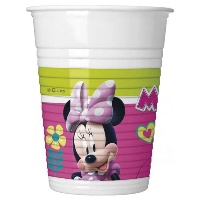 8 Plastic Cups - Minnie