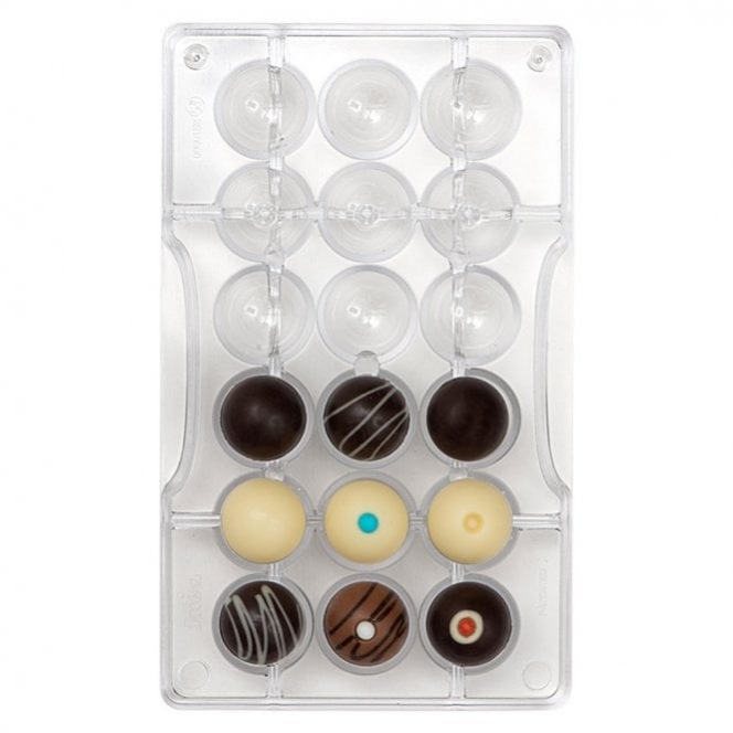 Chocolate Mold  Perforated Sphere  - Decora