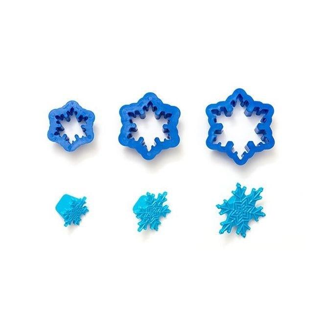 Snowflakes Plunger Cutter - 3pcs - Decora