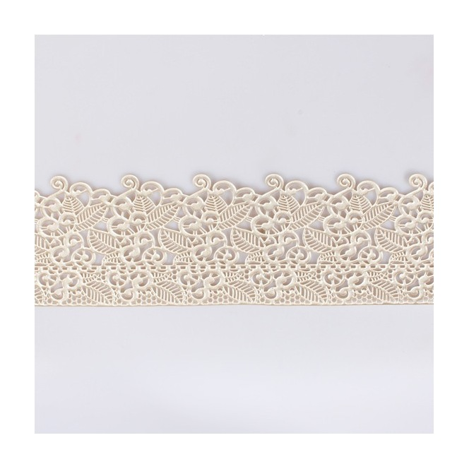 Edible Cake Lace Decoration - White Floral - House of Cake