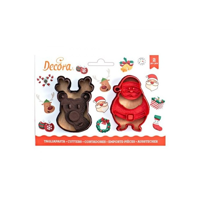Christmas Cutters - 2 pcs - Decora