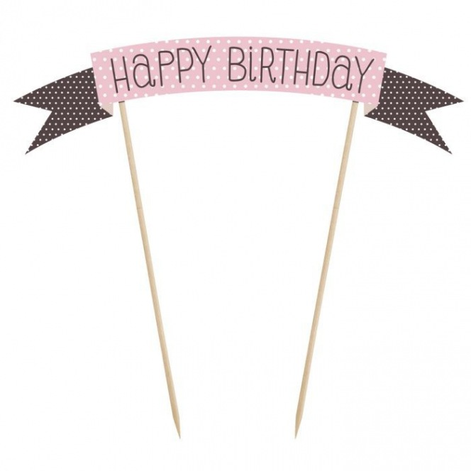 Cake Topper Sweets - Happy Birthday - PartyDeco