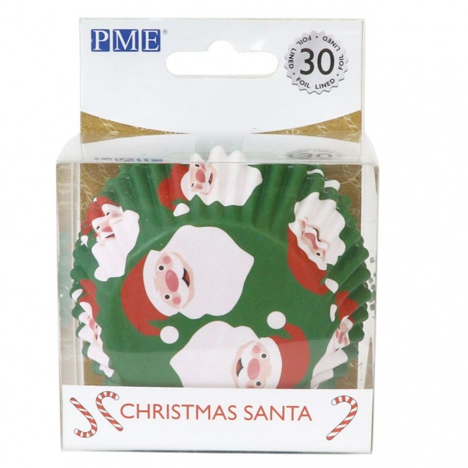 Foil Baking Cups Santa Claus - 30pcs - PME
