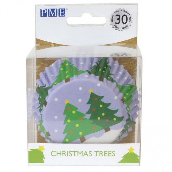 Foil Baking Cups Christmas Trees - 30pcs - PME