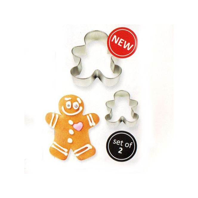 Cookie Cutter Gingerbread Man Set/2 - PME