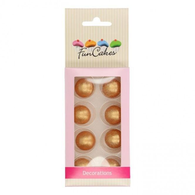 Pearl Choco Balls x8 - Gold - Funcakes