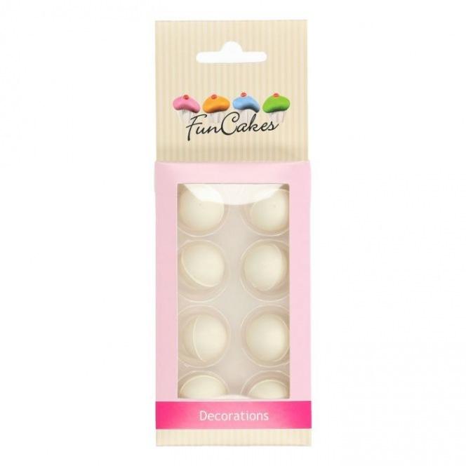 Pearl Choco Balls x8 - White - Funcakes