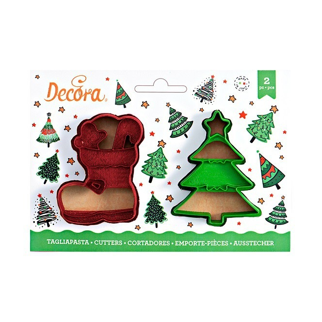 Christmas Tree Cutters - 2 pcs - Decora