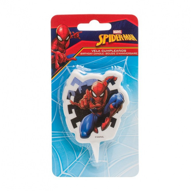 2D Spiderman Candle - Dekora