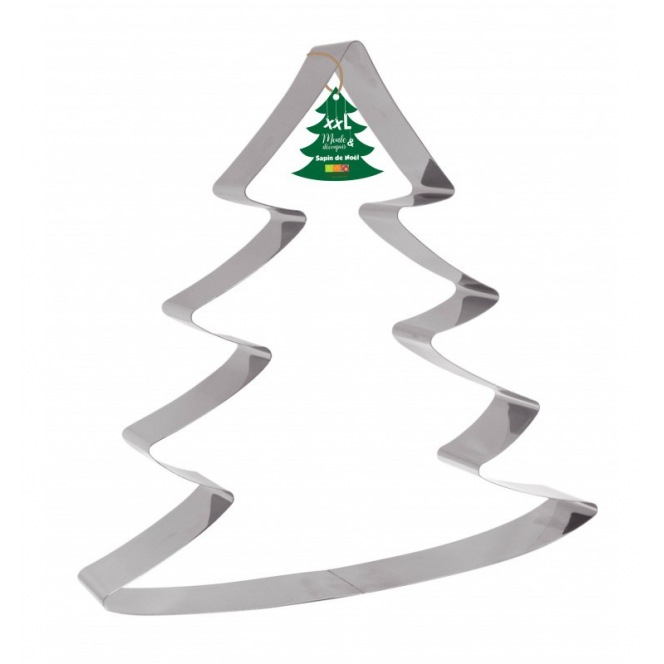 Cake Mould and Stainless Steel Cutter - Christmas Tree -
