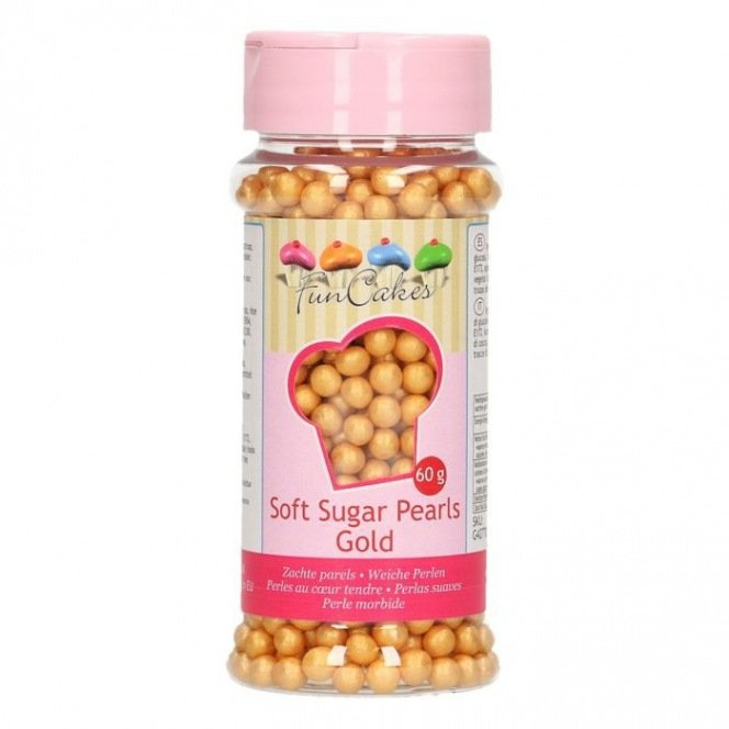 FunCakes Soft Pearls - Gold - 60g