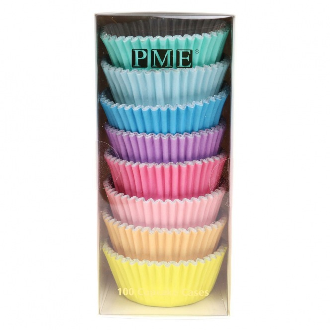 100 Baking Cups - Pastel Colours - PME