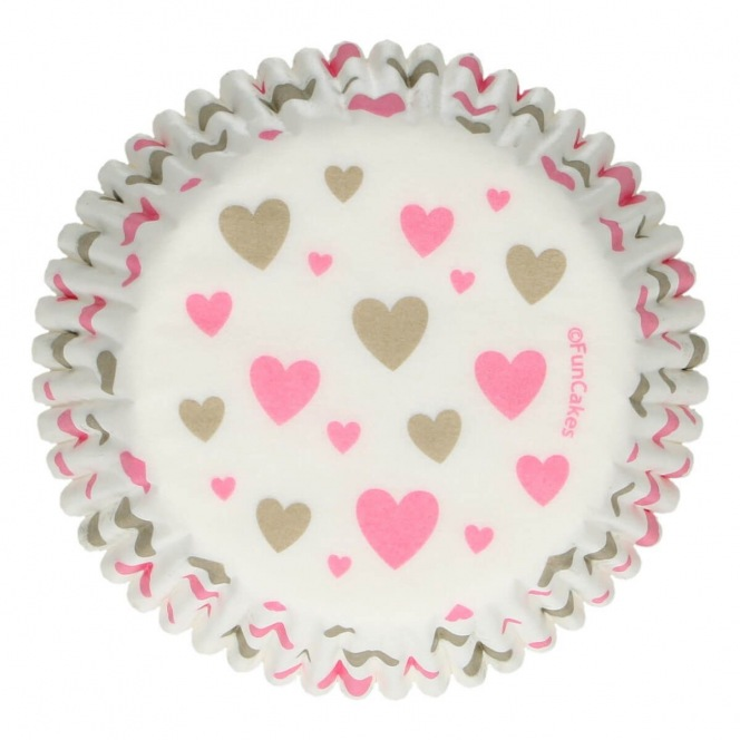Baking Cups - Hearts - 48pcs - Funcakes