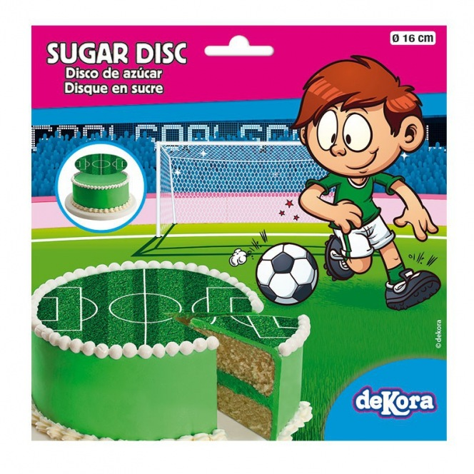 Sugar Disc - Football Field 16 cm - Dekora
