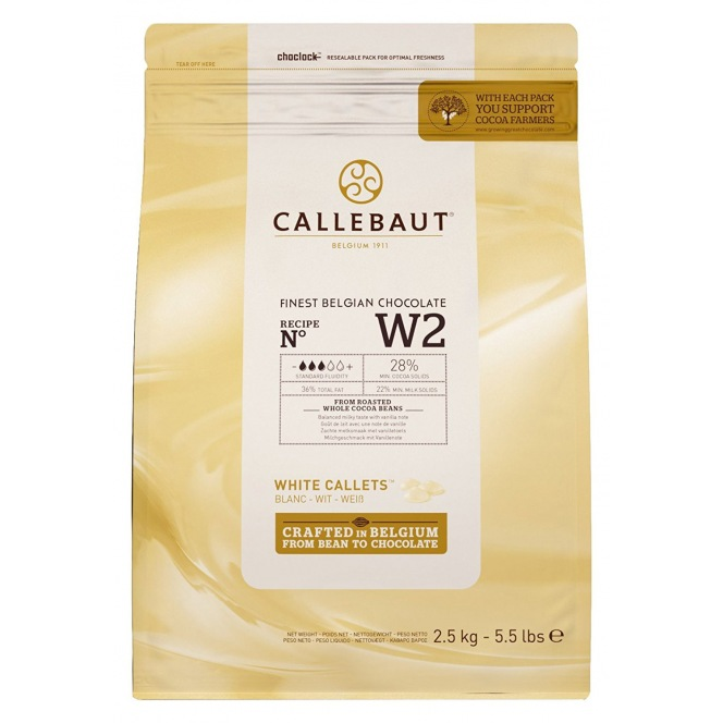 Callebaut White Chocolate Callets 2,5kg