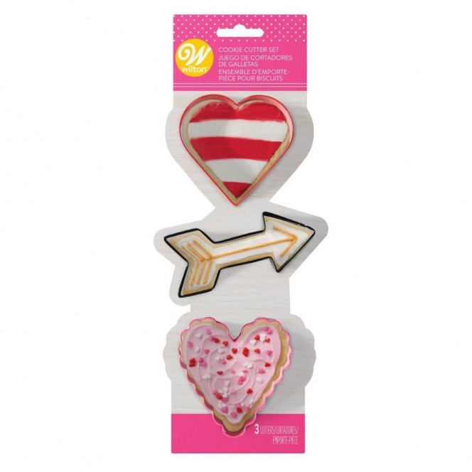 Valentine Metal Cookie Cutter set - Wilton