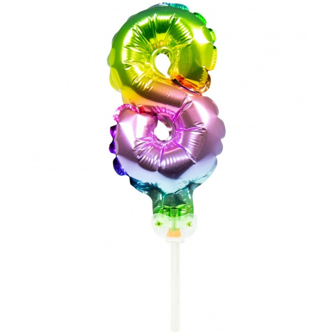 Cake Topper Balloon Number 8 - Folat