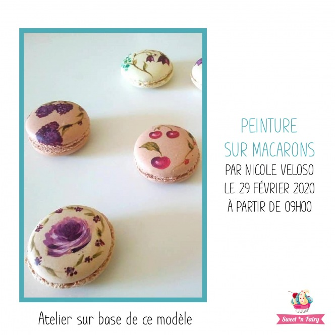 Peinture sur Macarons par Nicole Veloso