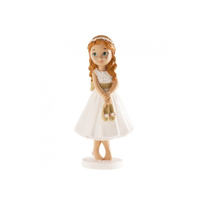 First Communion Girl Figurine - Bare Feet 13cm - Dekora