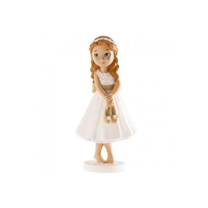 First Communion Girl Figurine - Bare Feet 13cm - Dekora