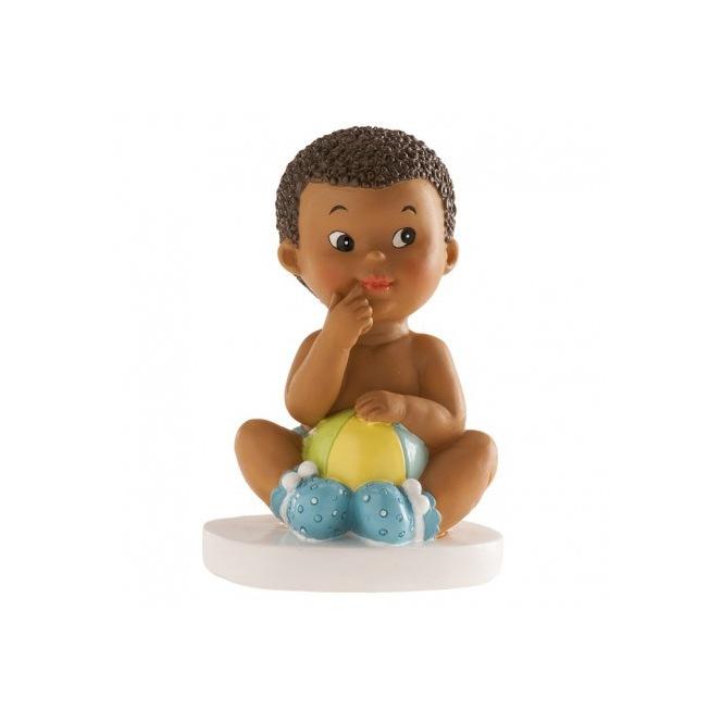 Baby Boy FIgurine - Sitting - 10cm - Dekora