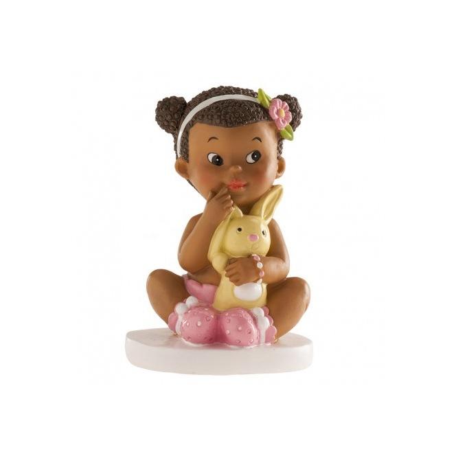 Baby Girl Figurine - Sitting - 10cm - Dekora
