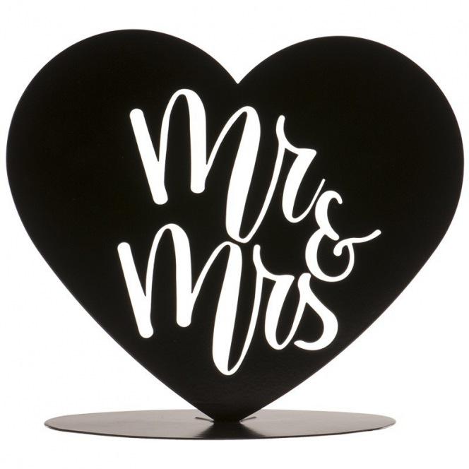 Black Topper Mr & Mrs  - 15 cm - Dekora