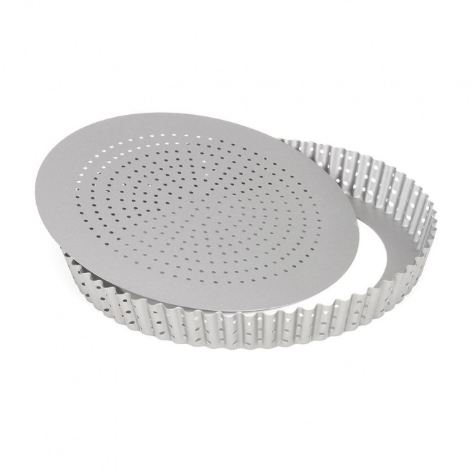 Tart Pan With Perforated Loose Bottom 24 cm - Patisse
