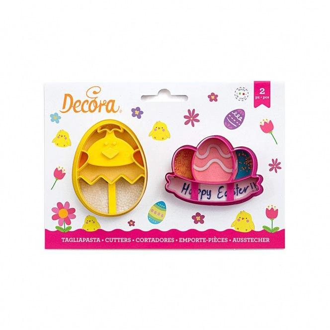 Plastic Cutter - Easter - 2pcs - Decora