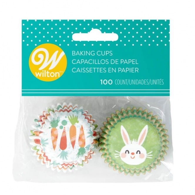 Bunny & Carrots Mini Baking Cups - 100pcs - Wilton