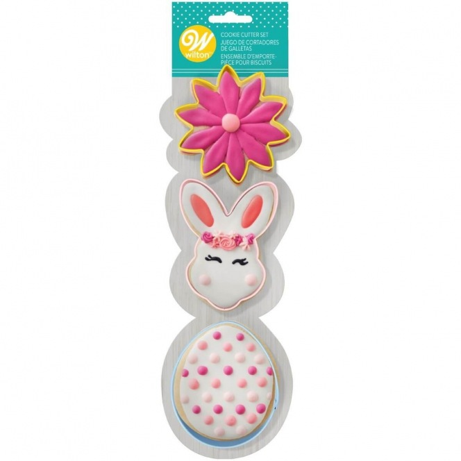 Cutter Set - Flower/Bunnyhead/Egg - Wilton