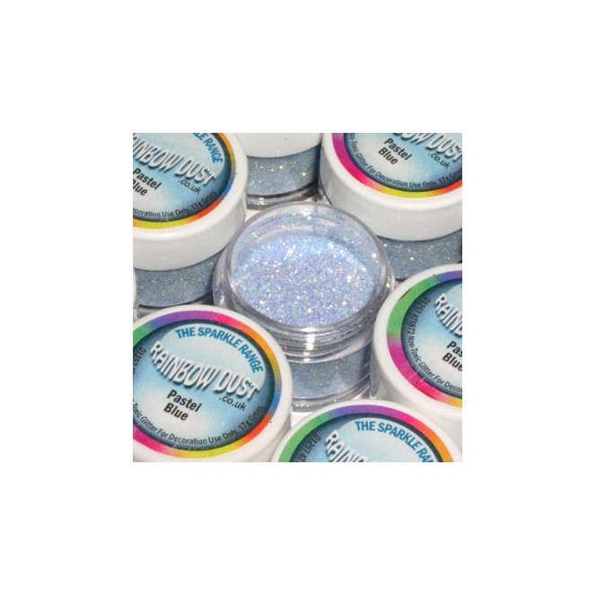 Decorative Glitter Pastel Blue Rainbow Dust 5g
