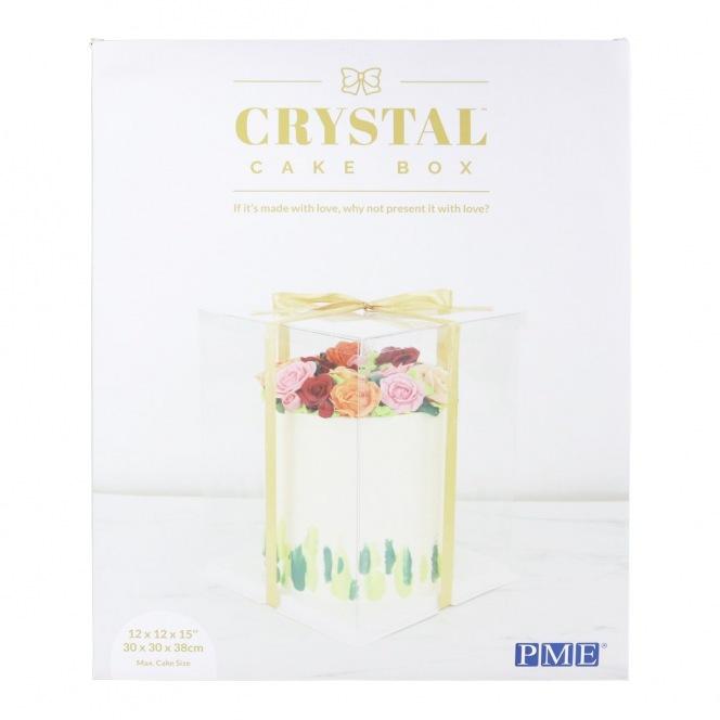 Crystal Cake Box - 30 x 30 x 38cm - PME