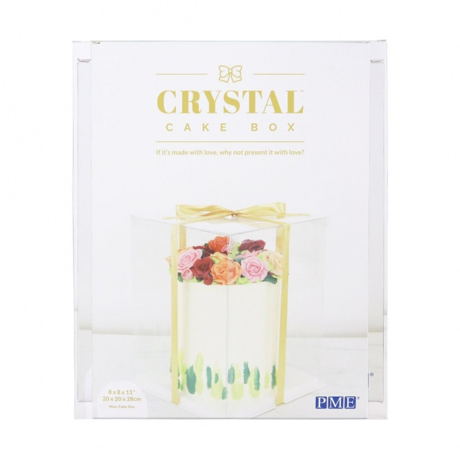 Crystal Cake Box - 25 x 25 x 35cm - PME