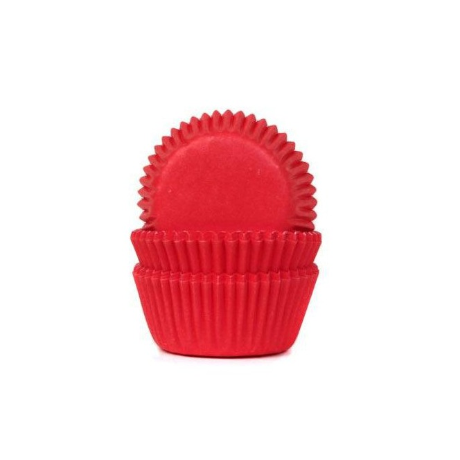 HoM Mini Baking cups Red Velvet - pk/60