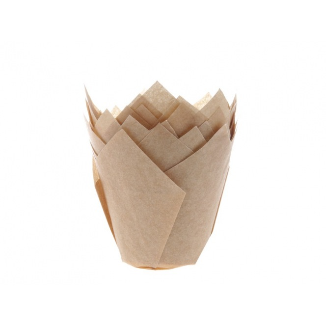 Tulip Baking Cups Kraft pk/36