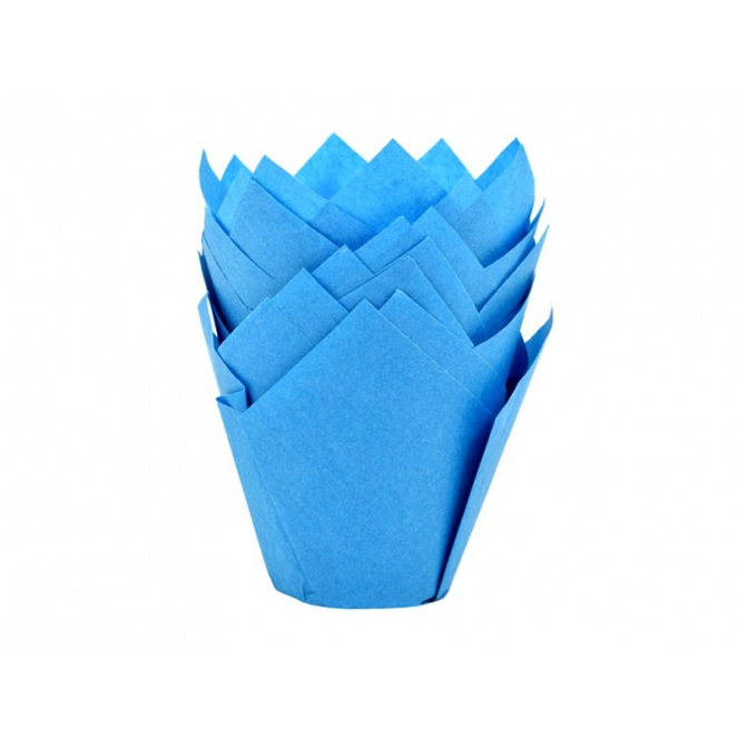 Tulip Baking Cups Blue pk/36