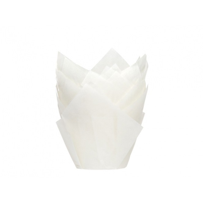Tulip Baking Cups White pk/36