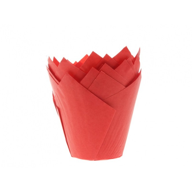 Tulip Baking Cups Red pk/36